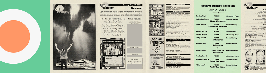 Bethany Church Bulletins